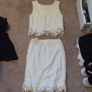 Dresses & Skirts - White Two Piece Lace Dress